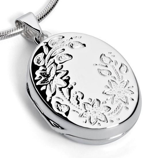 Aufwendig verziertes Medaillon aus Silber