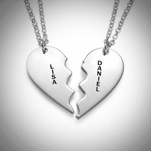 - Geteiltes Herz in Silber mit Gravur Schatzinsel Schmuck.de - Onlineshop Schatzinsel Schmuck