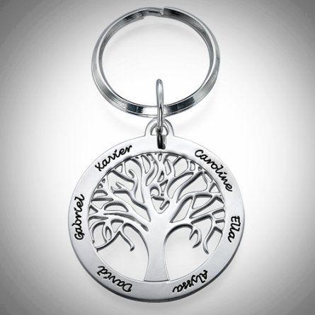 Baum des Lebens Anhaenger mit Gravur