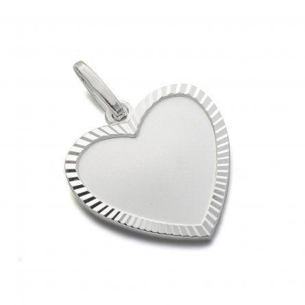 Herzanhaenger mit Gravur und diamantiertem Rand