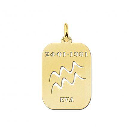 rechteckiger-sternzeichenanhanger-wassermann-aus-gold-mit-gravur