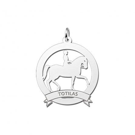 anhanger-pferd-mit-reiter-und-banderole-mit-gravur-aus-silber