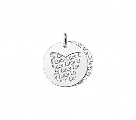 2-teiliger Anhänger Motiv Schmetterling aus Silber mit Gravur