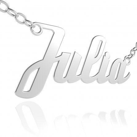 Individuellschmuck - Namenskette in Silber mit echtem Diamant in Brillantschliff - Onlineshop Schatzinsel Schmuck