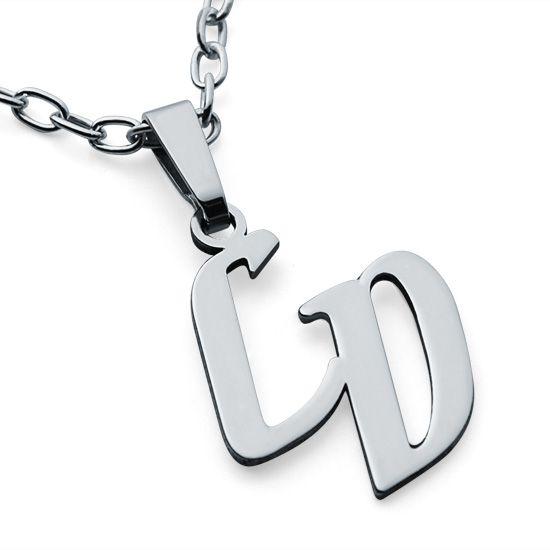 Initial Namensanhänger Silber mit 2 Buchstaben