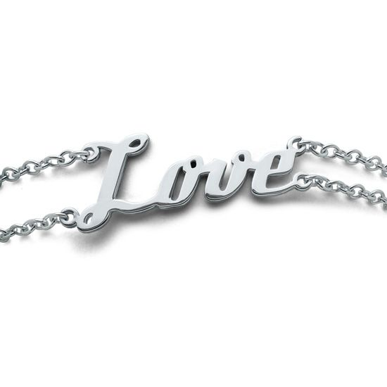 Individuellschmuck - Individuelles Namensarmband doppelsträngig aus Silber - Onlineshop Schatzinsel Schmuck