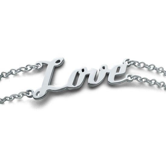 Individuelles Namensarmband doppelsträngig aus Silber